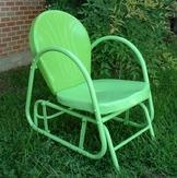 green glider chair