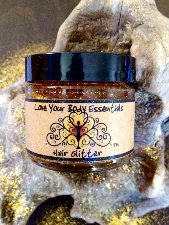 Gold temporary hair color gold hair tinsel by LoveYourBodyEssentls