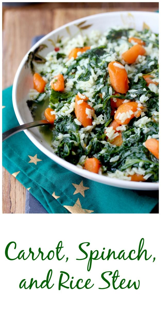 Carrot Spinach And Rice Stew