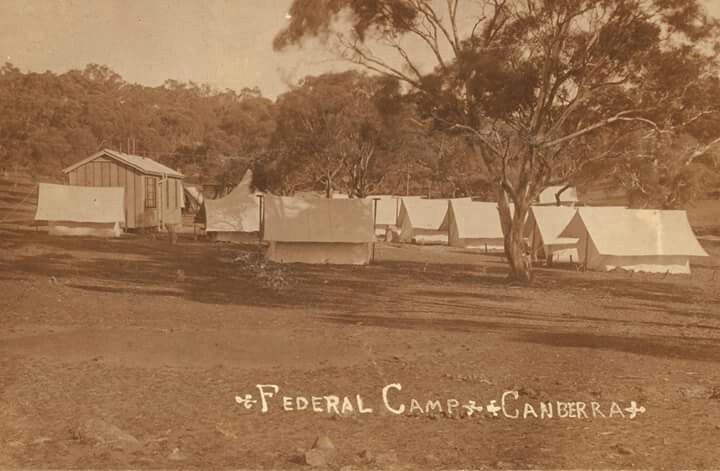 Federal Camp in Canberra inbetween the years of 1915-1920.