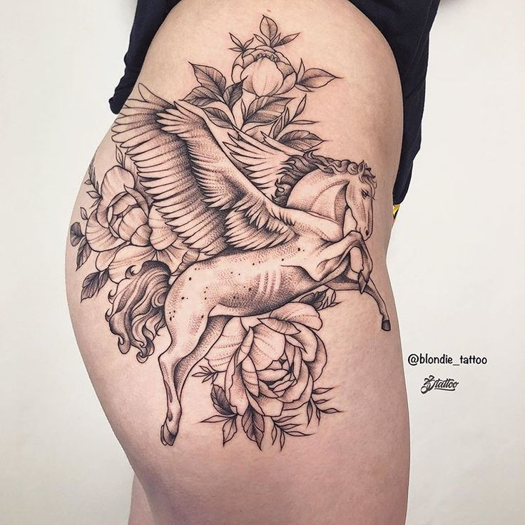 ✨ Pegasus ✨  For beautiful lady   #tattoo #tattoed #tats #horse #татуи… – BodyMods