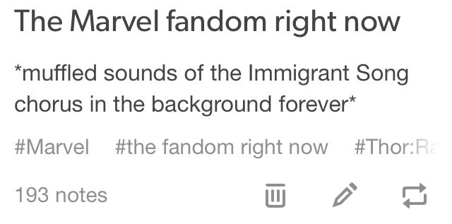 Shhhh, it's not like I'm currently listening to that song while reading Marvel fanfiction