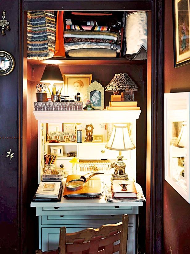 Workspace in the Wardrobe?! | 13 Lovely Closet Offices