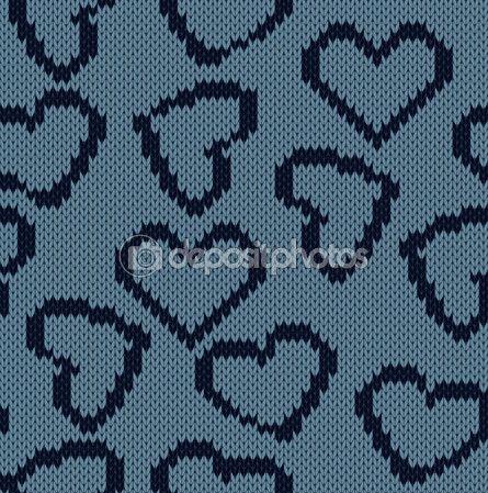 Kalpler görüntü ile örme arka plan — Stok Vektör © MariStep #65806855