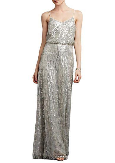 Donna Morgan Sequin Blouson Gown