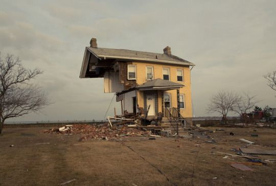 Keith Hayes' photograph of a house partially destroyed by Hurricane Sandy, New Jersey (via Keith A Hayes)