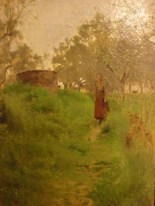 Telemaco Signorini, Veduta di Carmignano, 1888, olio su cartone, cm 22 x 14, Galleria d'Arte Moderna Achille Forti