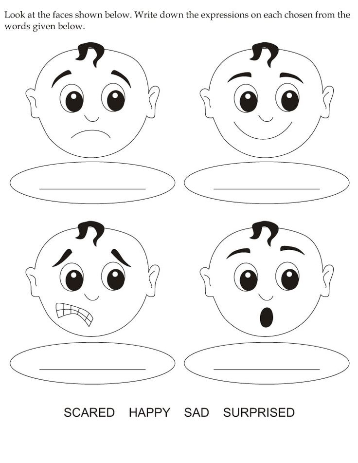 Look at the faces shown below | Download Free Look at the faces shown below for kids | Best Coloring Pages