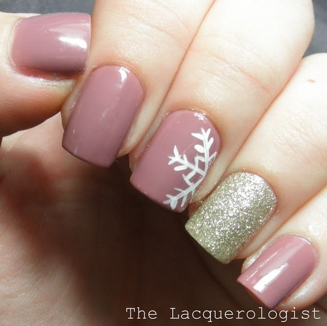 women shox nz white  metallic silver  pink flesh lace 311137 The Perfect January Manicure   The Lacquerologist   See more nail designs at http   www nailsss com nail styles 2014