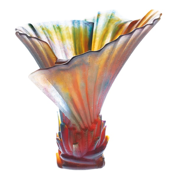 Daum Palm Tree vase