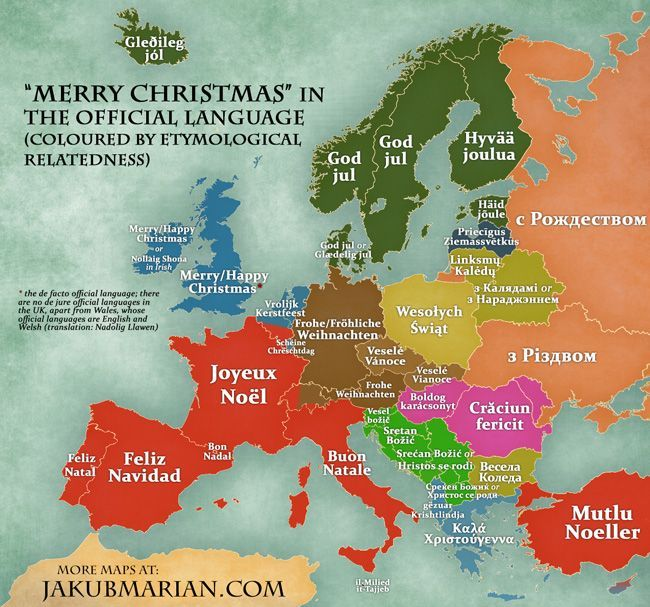 How to say Merry Christmas in different European Languages