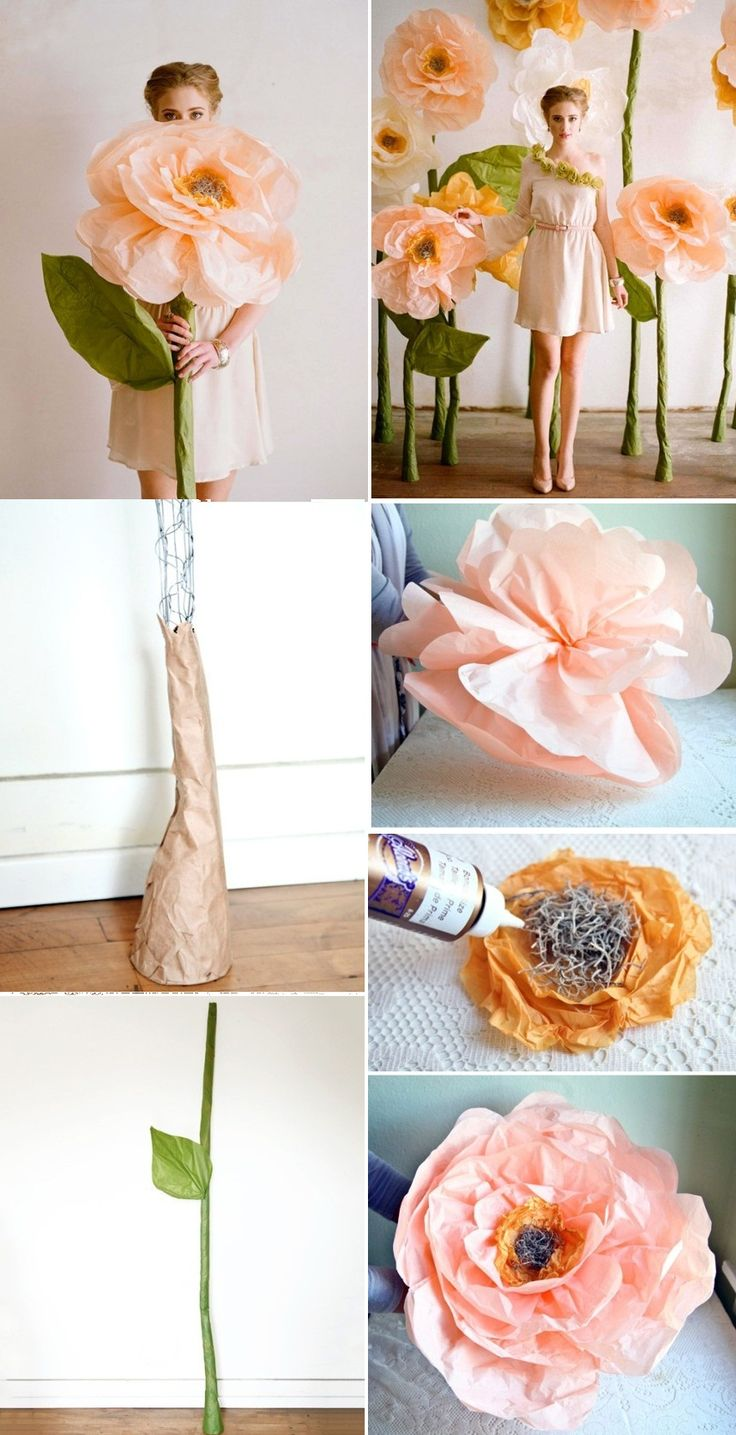 seriously gorgeous tissue paper flower decorations. I'm thinking of putting these as displays near tables