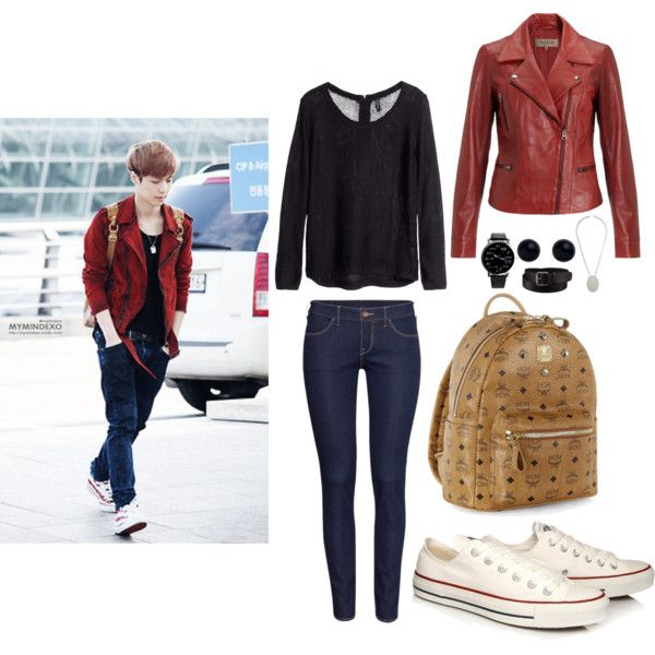 EXO Incheon Airport Lay inspired Outfit by smokingcrayonz on Polyvore featuring polyvore fashion ...