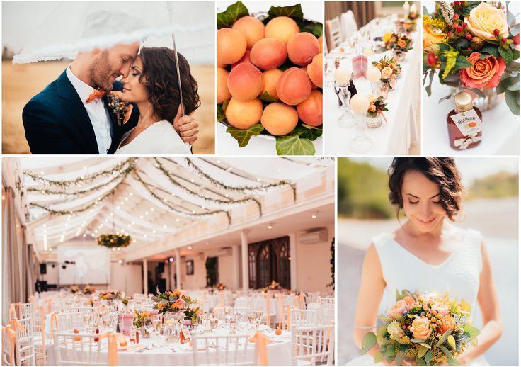 Wedding decorations peach