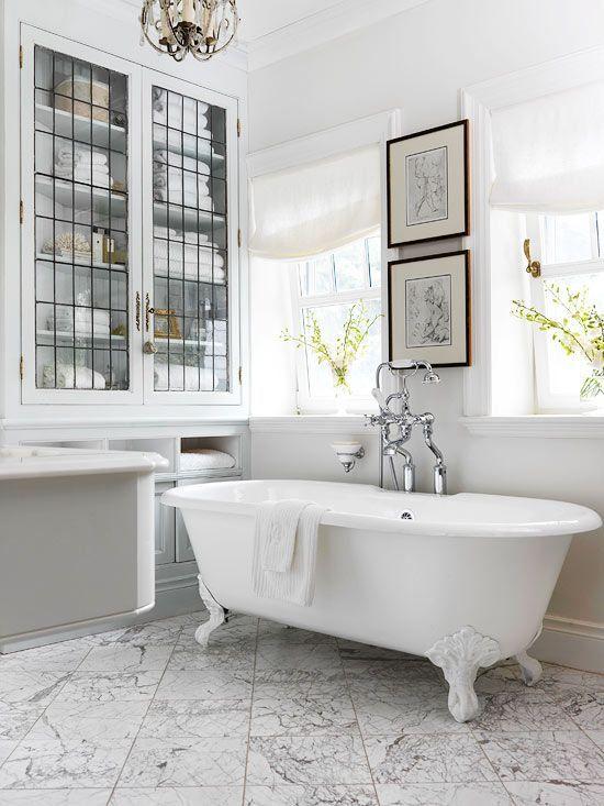 Leaded glass & claw foot tub | decorology.com...