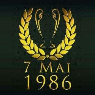 1986/ 7 /Mai , Steaua Bucharest winner of C.C.E ( Uefa Champions League . Today )