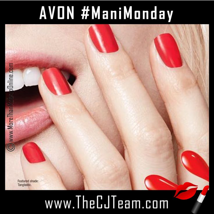 ManiMonday with Avon. Shop online with FREE shipping with any $40 online Avon purchase. #Avon #CJTeam #Sale #TrueColor #GelFinish #NailwearPro #Cosmetics #C12 #WhileSuppliesLast Shop Avon Cosmetics and Nail supplies online @ www.TheCJTeam.com