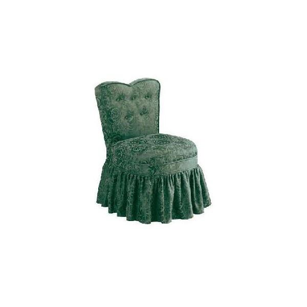 Delmar Heart Back Chair With Skirt Vanity Stools Bedroom Furniture Furn