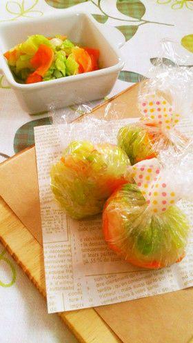 レンジで簡単☆アレンジ色々基本の野菜玉