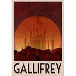 """Affordable """"Retro"""" Fantasy City Posters - do a framed set?"""