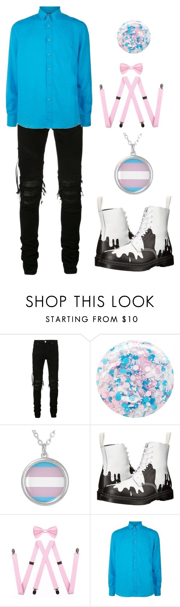 """transgender pride ftm"" by smolxboi ❤ liked on Polyvore featuring AMIRI, Nails Inc., Dr. Martens, Vilebrequin, men's fashion and menswear"