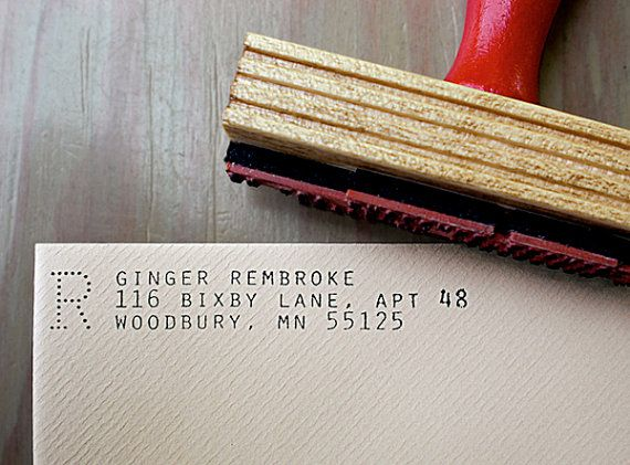 Custom Return Address Stamp // ARCHIVE // typeset by Primele, $35.00
