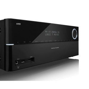 Receiver AV Harman Kardon AVR 370 - Engineered with a new, eco-friendly, digital power supply that delivers superior performance without the conventional heavy transformers, the AVR 370 will fill your home with a mighty 125-watts-per-channel while Dolby and DTS processing create a 3D surround-sound experience.