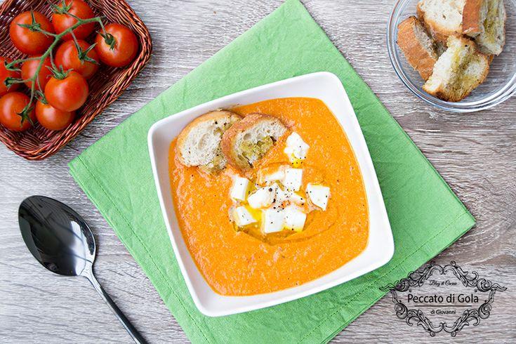 ricetta zuppa di pomodori arrosto e mozzarella, peccato di gola di giovanni