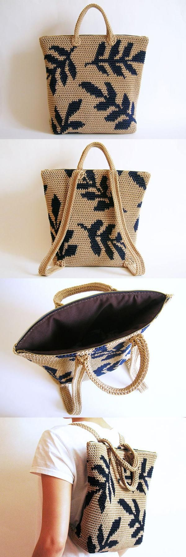 Leaves Backpack Crochet Pattern