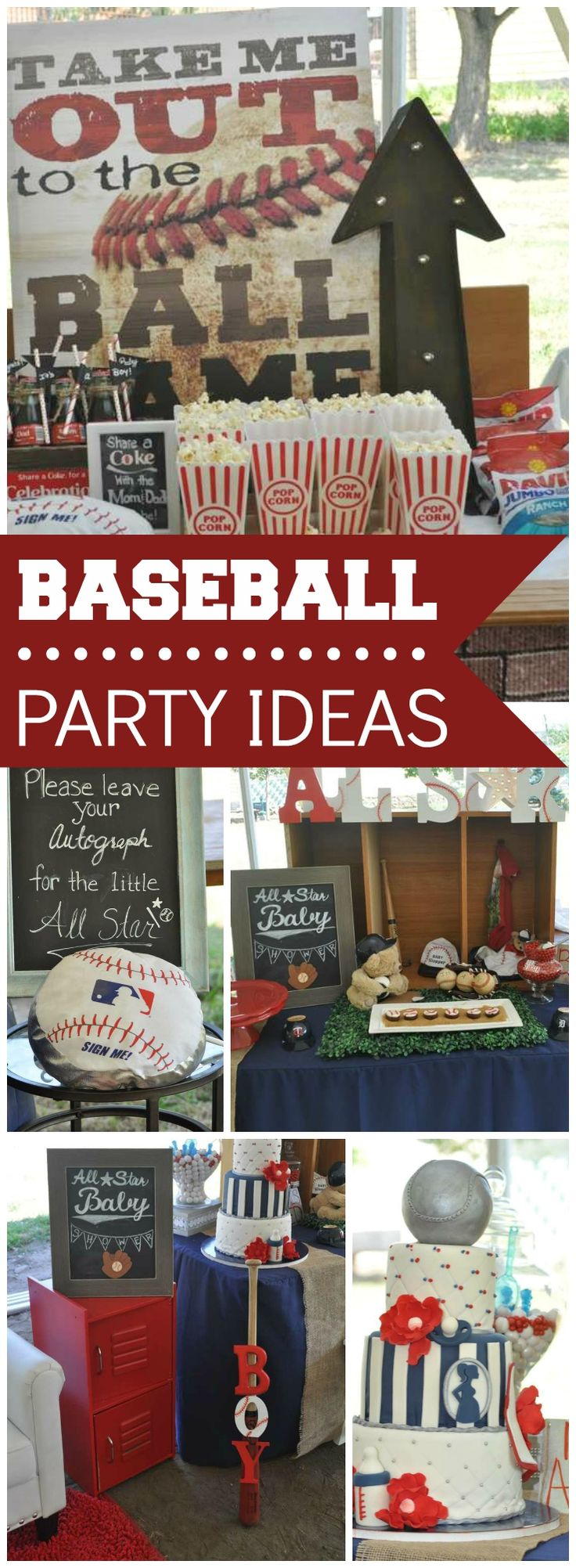 This baseball themed baby shower is a grand slam! See more party ideas at CatchMyParty.com!