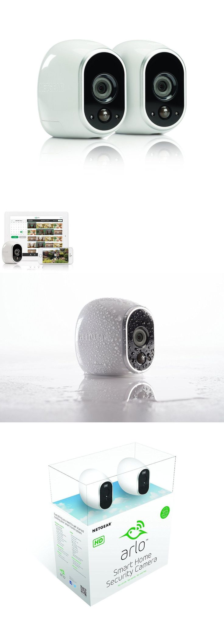 Surveillance Security Systems: New! Arlo Smart Home Security Camera System - 2 Hd, 100% Wire-Free By Netgear BUY IT NOW ONLY: $251.0