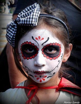 Maquillaje Infantil Dia de Muertos | Manualidades Infantiles