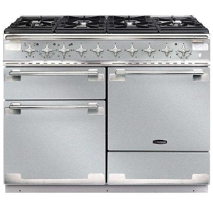 Buy Rangemaster Elise 110 Dual Fuel Range Cooker, Stainless Steel/Brushed Chrome Trim Online at johnlewis.com