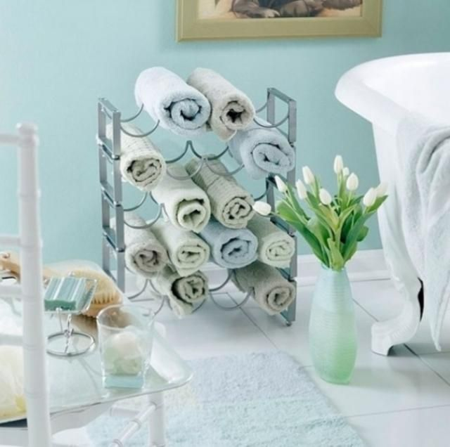Estante de vino organizador de toallas