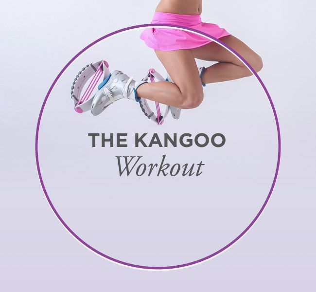 Kangoo Jump shoes for a unique and fun workout! The shoes provide shock absorption while you workout, protecting your joints while you go all out!