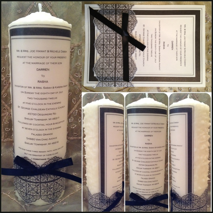 Wedding Invitation Candles: Pin By Letisha Obregon On Chenaomiwedding