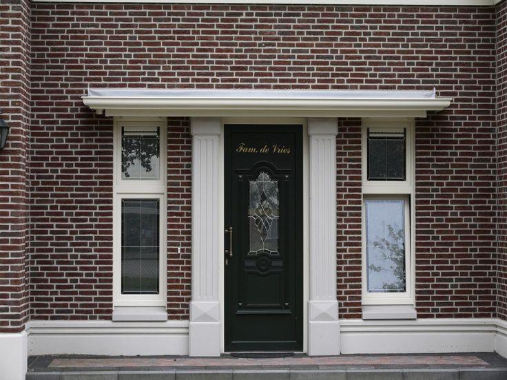 Afbeeldingsresultaat voor kunststof luifel voordeur