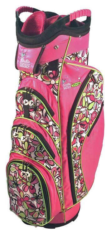 I found this at Pink Golf Tees! Birdie Babe Flower Power Ladies Golf Bag