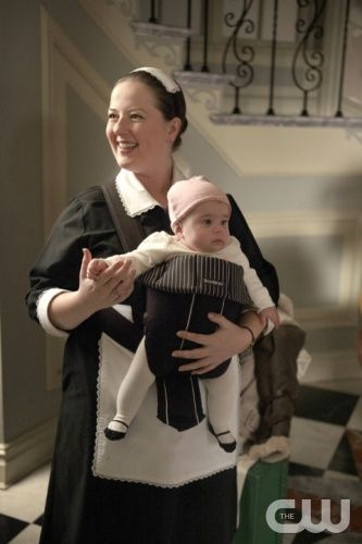 """""""Gaslit""""   Gossip Girl   Pictured Zuzanna Szadkowski as Dorota and baby Ana  PHOTO CREDIT:  GIOVANNI RUFINO/ THE CW 2010 The CW Network, LLC. All Rights Reserved"""