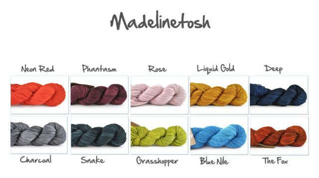 Pantone Fall 2017 - madelinetosh selection by readytoknit on Polyvore featuring art