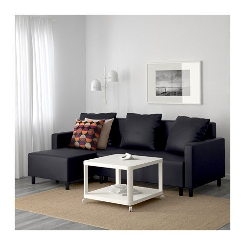 LUGNVIK Sofa bed with chaise - Granån black, - - IKEA