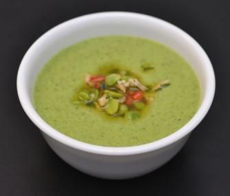 I am not sure what the difference is between peas and English peas, but this looks like a yummy gluten free soup.