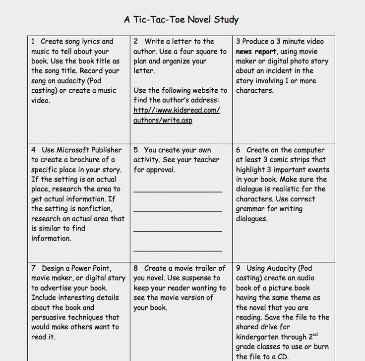 1000 images about learning menus on pinterest teaching for Tic tac toe homework template