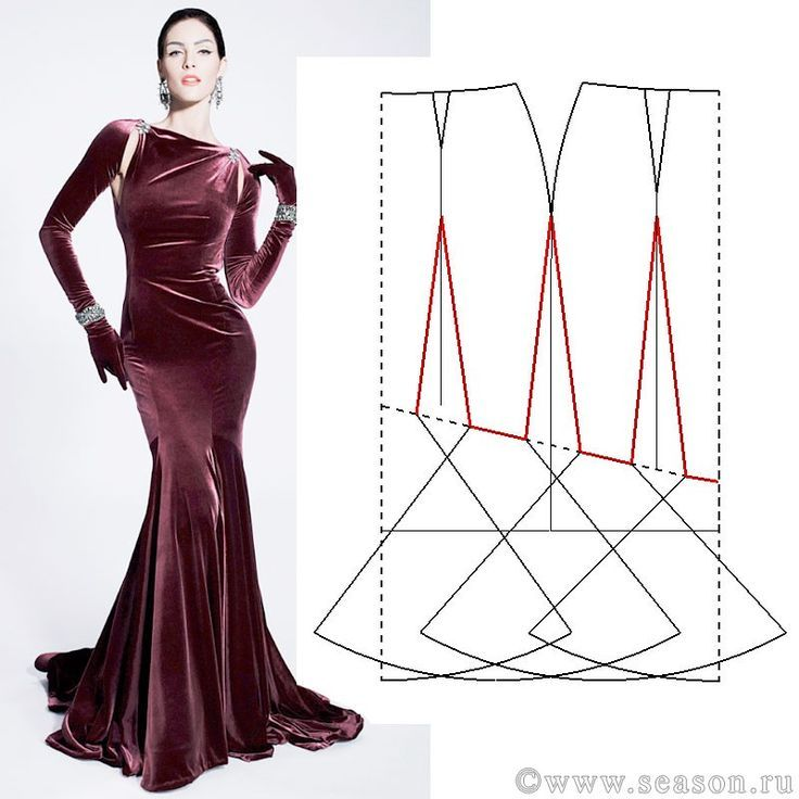 Image Result For Pattern A Center Seam Mermaid Dress