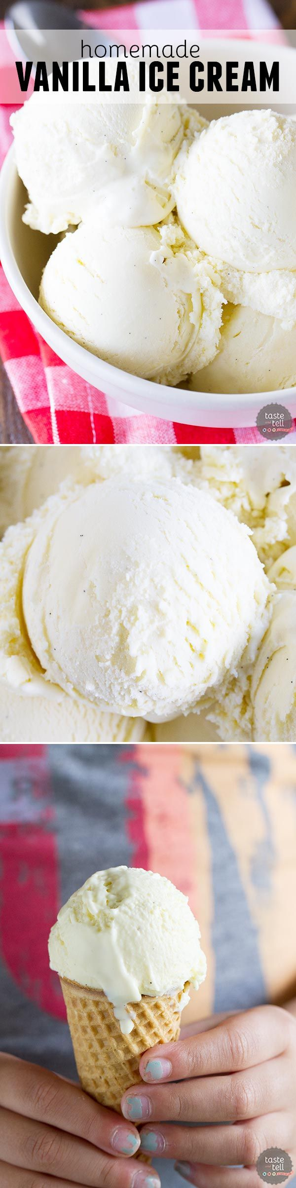 You can't go wrong with a classic! This Homemade Vanilla Ice Cream is custard based with real vanilla bean flecks throughout.