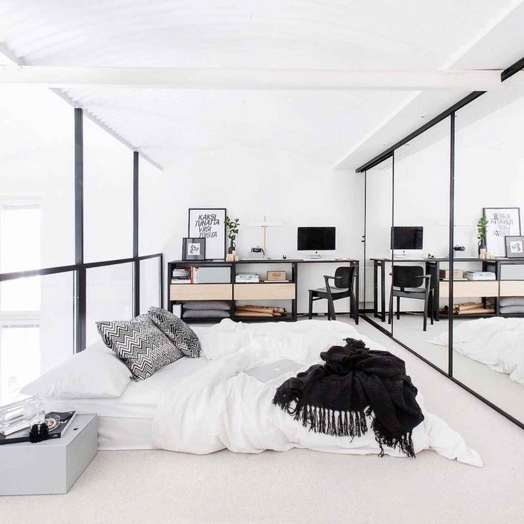 30 Examples Of Minimal Interior Design 13 Mirror On Floorbed