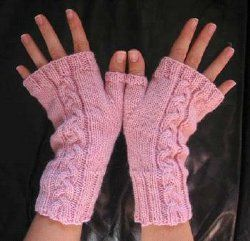 Knit Cabled Fingerless  free pdf thru allfreeknitting.com or   www.thegivingflower.de