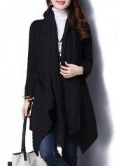 Hooded Collar Zipper Closure Black Parka Coat on sale only US$55.46 now, buy cheap Hooded Collar Zipper Closure Black Parka Coat at lulugal.com