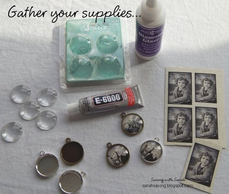 DIY photo pendant for under $2.50. This is a sweet keepsake for a new mama or someone who has lost a loved one.