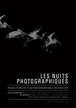 Les Nuits photographiques : un festival en plein air à Paris : Avis à tous les amoureux de photo contemporaine : les Nuits Photographiques vous donnent rendez-vous pour de belles soirées d'été, en plein air et en plein cœur de Paris ! Ce festival dédié au film photographique vous propose de découvrir sur écran géant des projets photographiques et des visions d'auteurs.